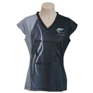 Long Bay College Capped Sleeve Netball Top
